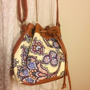 HOWARD'S-Bucket Bag-Yellow/Muti Color Floral print